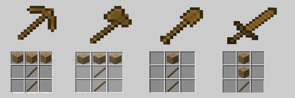 Minecraft Basit Eşyaların Yapımı
