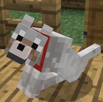 Minecraft Evcilleştirilmiş Kurt