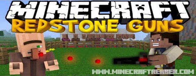 Minecraft RedStone Handguns Modu