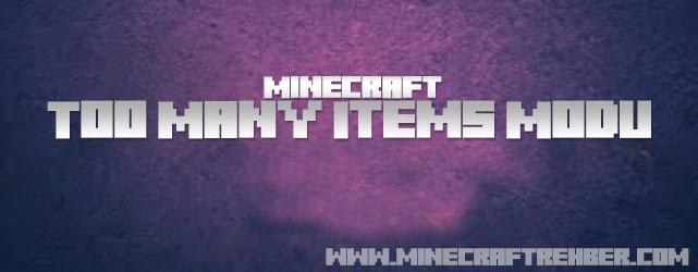 Minecraft Too Many Items Modu (Tüm Sürümlere Uygun)