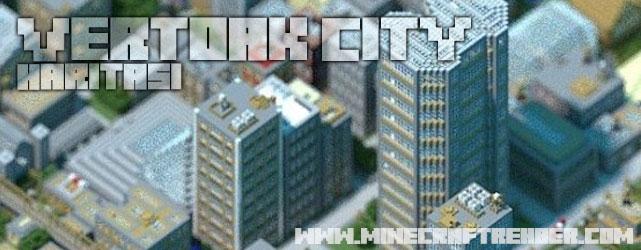 Minecraft Büyükşehir Haritası (Vertoak City)