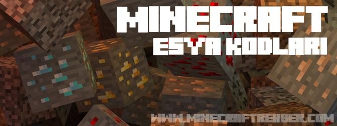 Minecraft Eşya Kodları