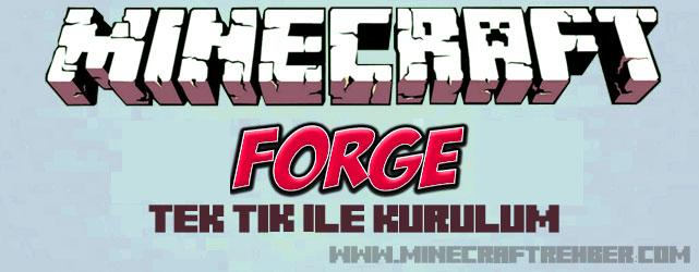 Minecraft Forge Tek Tık İle Kurulum