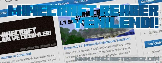 Minecraft Rehber Yenilendi!