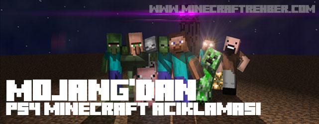 "Mojang'dan ""PS4 Minecraft"" Açıklaması!"