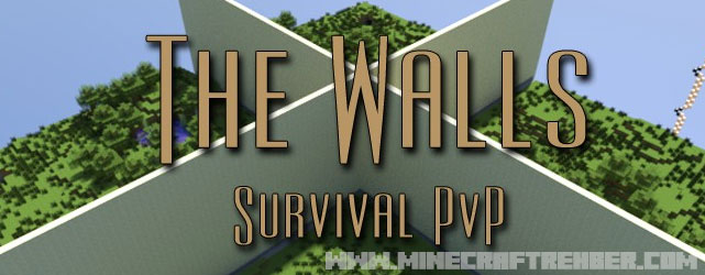 Minecraft PvP Survival Duvarlar Haritası (The Walls)